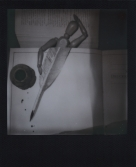 Polaroid 73 - Woodies Books n Bed